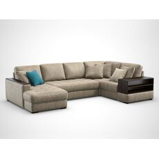 Угловой диван MOON 107 цвет коричневый